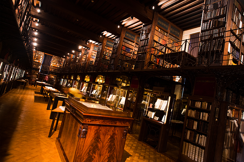 Long exposure of the Nottebohmzaal room at the Hendrik Conscience Library. - Antwerp, Belgium - Daily Travel Photos