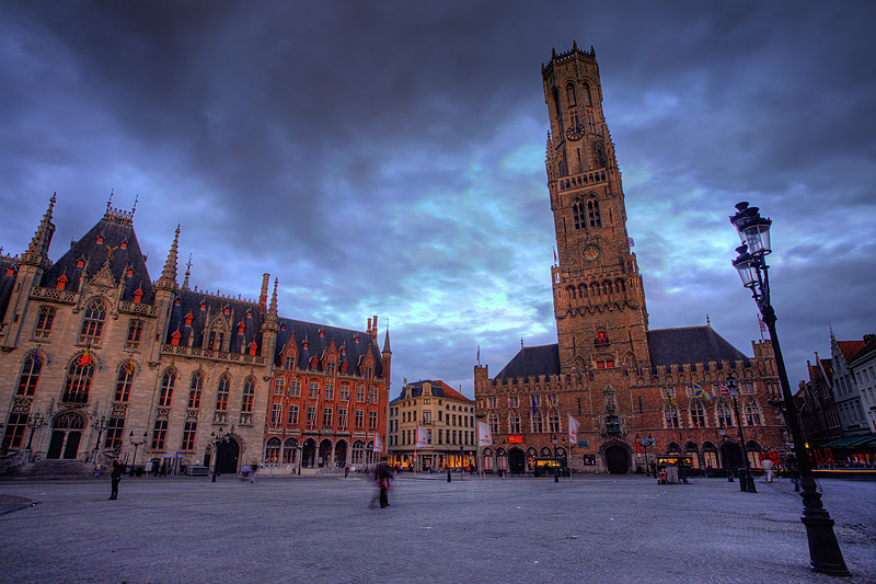 The provincial court and belfry at Grote Markt square. - Brugge, Belgium - Daily Travel Photos