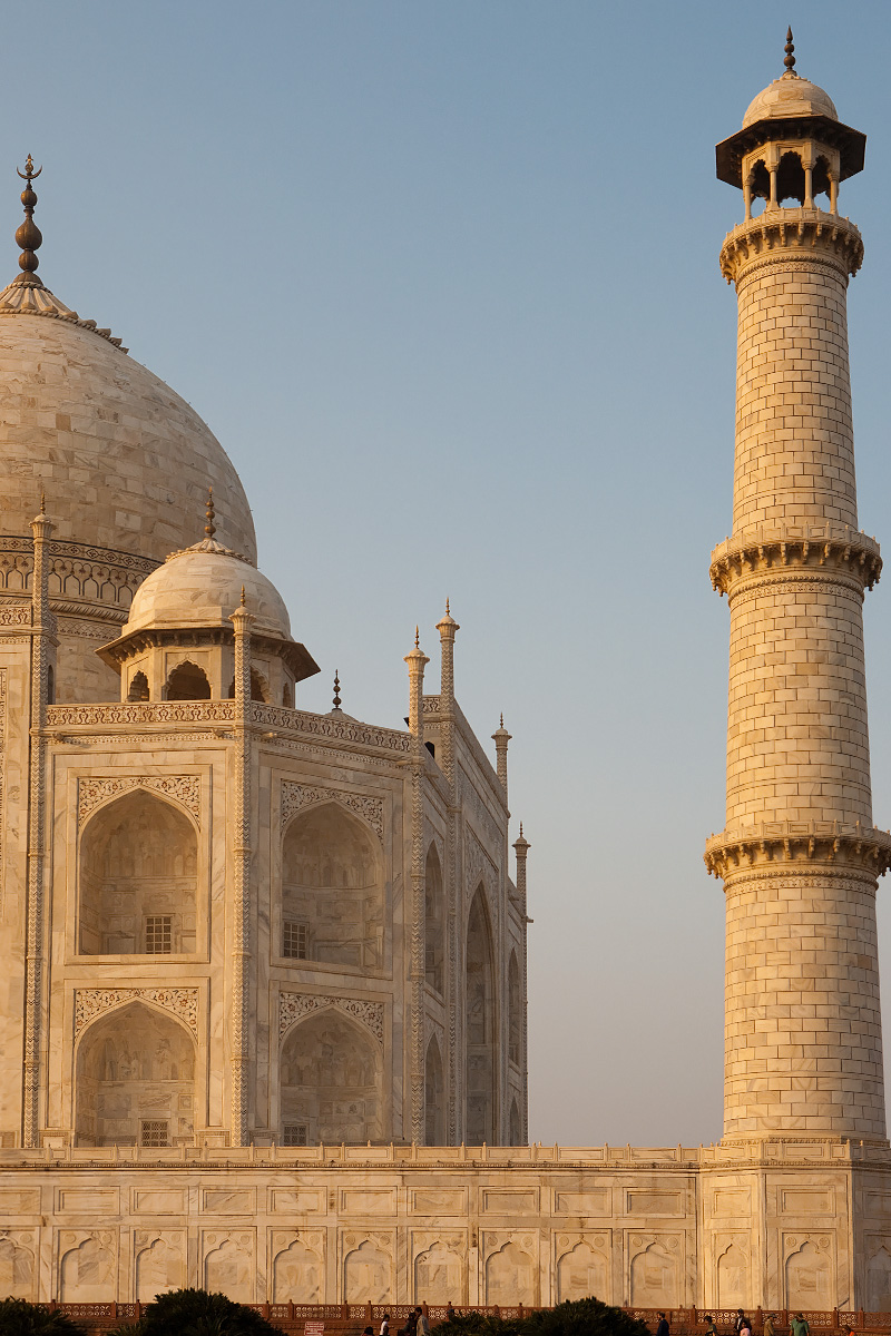 The remaining people at the Taj Mahal head for the exits at sunset. - Agra, Uttar Pradesh, India - Daily Travel Photos