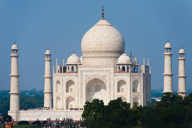 The Taj Mahal from a distance at mid-day. - Agra, Uttar Pradesh, India - Daily Travel Photos