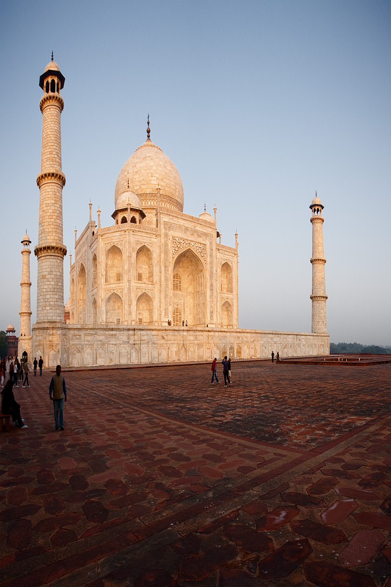 The Taj Mahal glows red at sunrise. - Agra, Uttar Pradesh, India - Daily Travel Photos