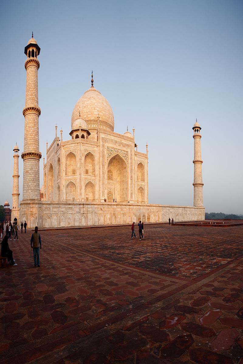 The Taj Mahal glows red at sunrise. - Agra, Uttar Pradesh, India - Daily Travel Photos