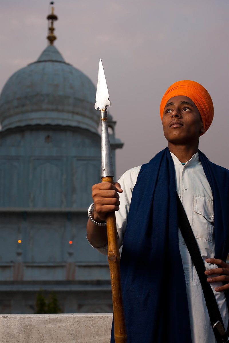 A young Sikh man at the Paonta Sahib Gurudwara. - Paonta Sahib, Himachal Pradesh, India - Daily Travel Photos