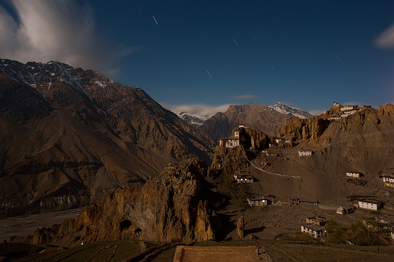 Buddhist monastery built into the side of a mountain and cliffs.  - Dhankar, Himachal Pradesh, India - Daily Travel Photos