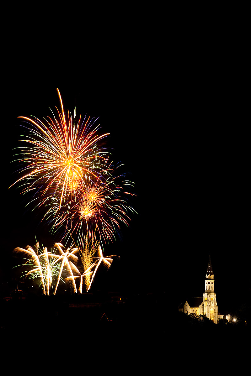 Bastille Day celebration near the Basilica of the Visitation. - Annecy, France - Daily Travel Photos
