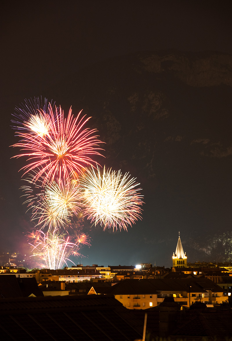 Bastille Day fireworks in the Alps - Annecy, France - Daily Travel Photos