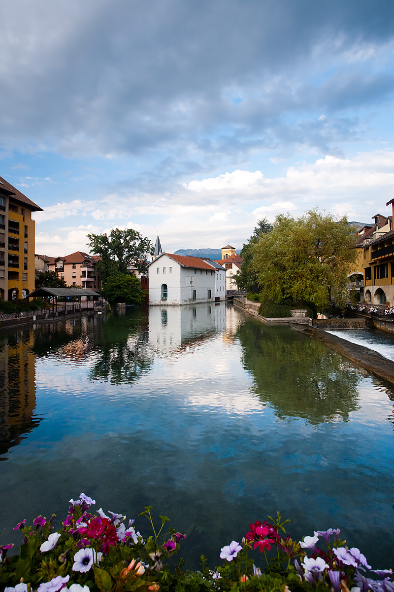 One of many canals that run through the historic old city - Annecy, France - Daily Travel Photos