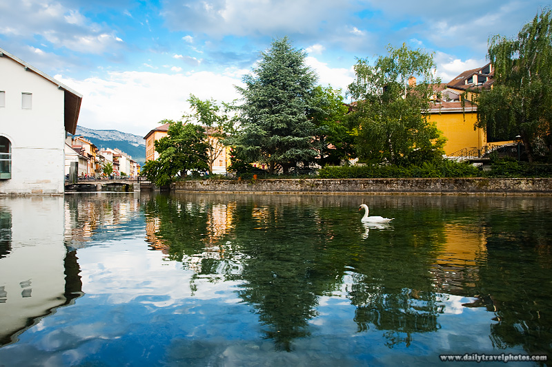 Main canal historic city center. - Annecy, France - Daily Travel Photos