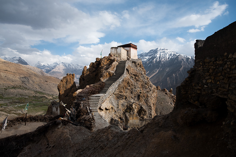 Watchtower at the old Dhankar monastery - Dhankar, Himachal Pradesh, India - Daily Travel Photos