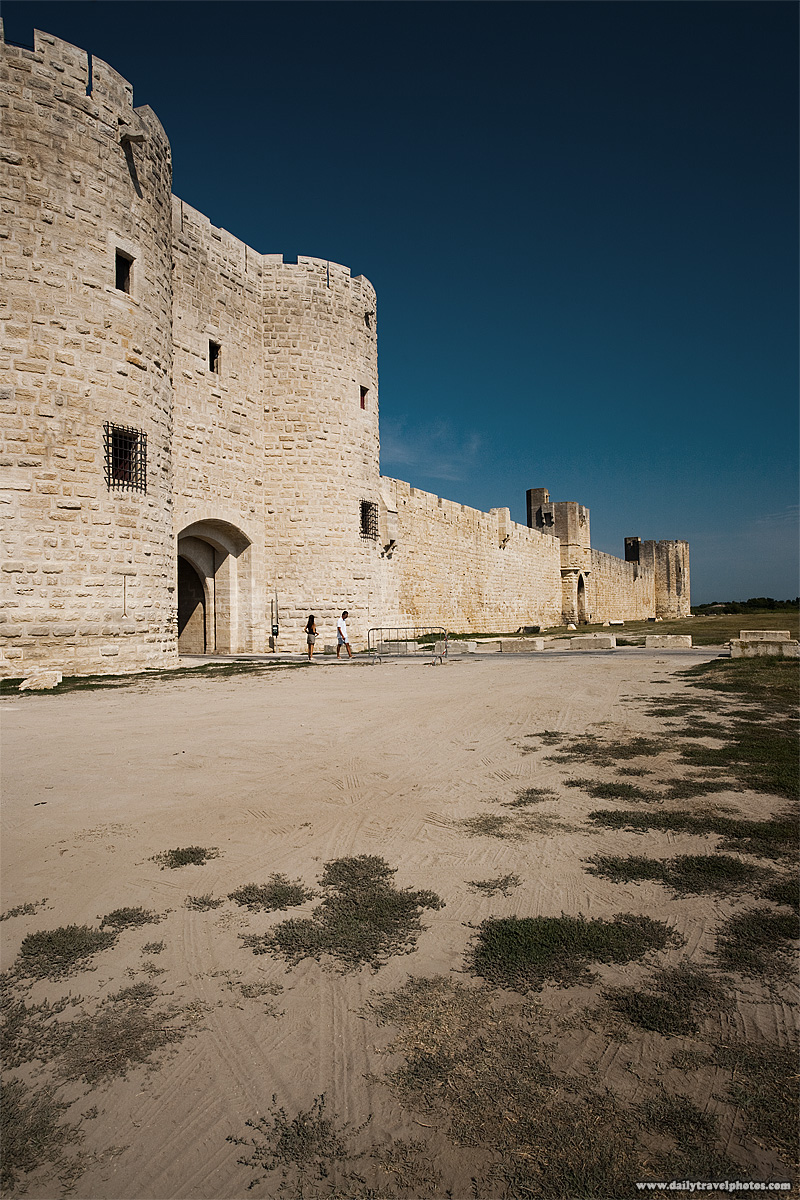 Old city fortification wall - Aigues Mortes, Provence, France - Daily Travel Photos