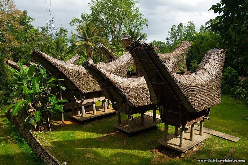 Tongkonan, traditional peaked roof boat houses, of the Tana Toraja people - Rantepao, Sulawesi, Indonesia - Daily Travel Photos