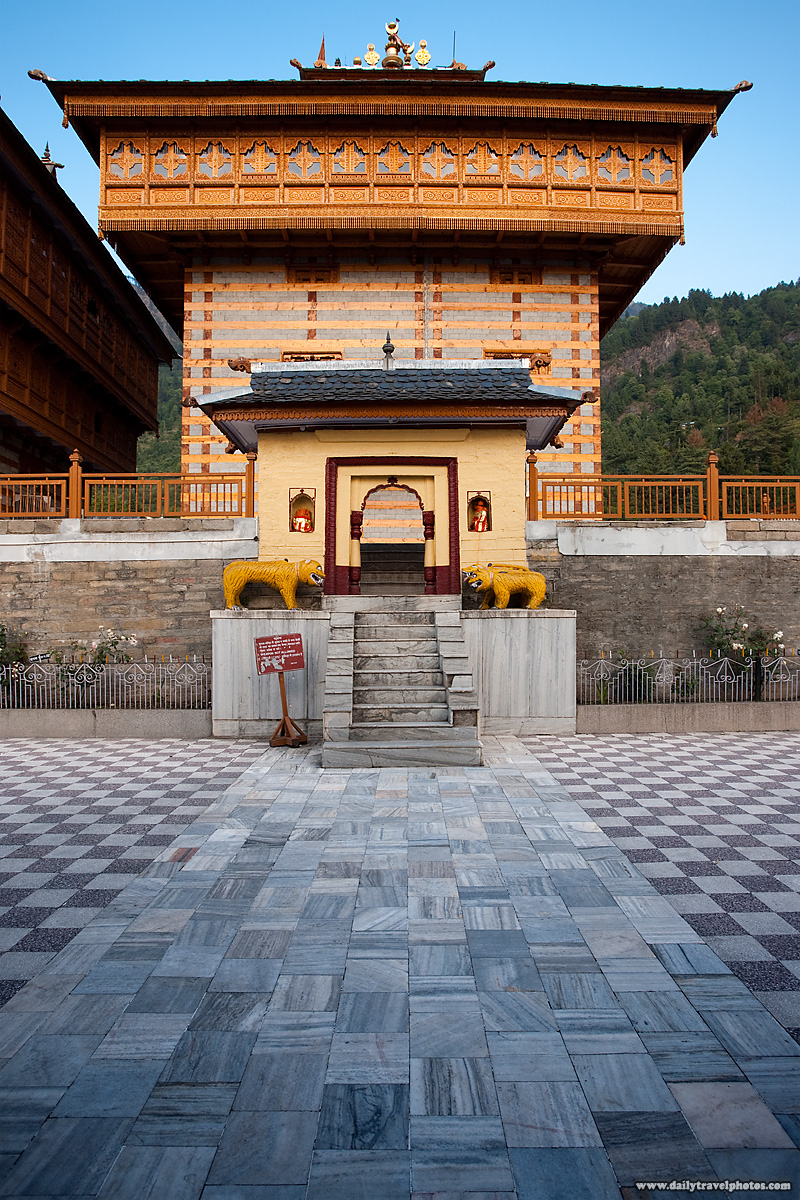 Courtyard at Bhimakali Hindu temple, a unique blend of Buddhist and Hindu architectural styles - Sarahan, Himachal Pradesh, India - Daily Travel Photos
