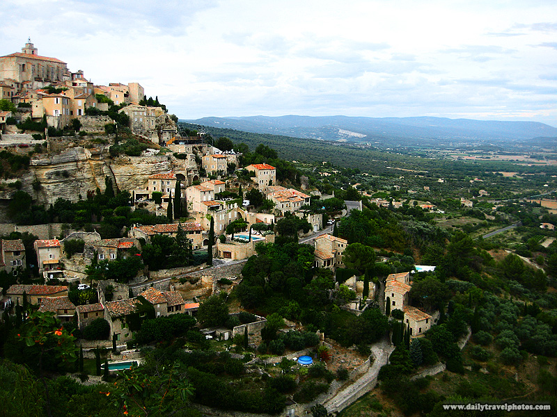 Picturesque Provencal village perched precariously on the slope of a mountain - Gordes, Provence, France - Daily Travel Photos