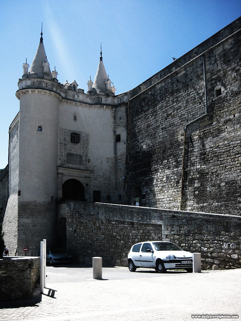 Hilltop medieval castle (chateau) entrance - Grignan, Provence, France - Daily Travel Photos