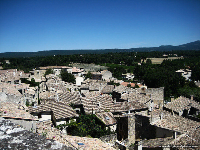 Picturesque rooftops of the village below the castle at Grignon - Grignan, Provence, France - Daily Travel Photos