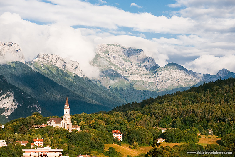 Church Eglise Visitation alps mountains forest - Annecy, Haute-Savoie, France - Daily Travel Photos