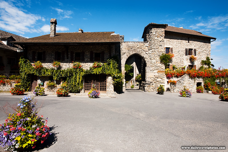 Entry gate into the stone hamlet of Yvoire on Lake Geneva - Yvoire, Haute-Savoie, France - Daily Travel Photos