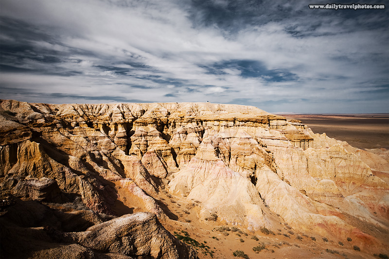 Flaming cliffs, famous for the discovery of dinosaur fossils and eggs - Bayanzag, Gobi Desert, Mongolia - Daily Travel Photos