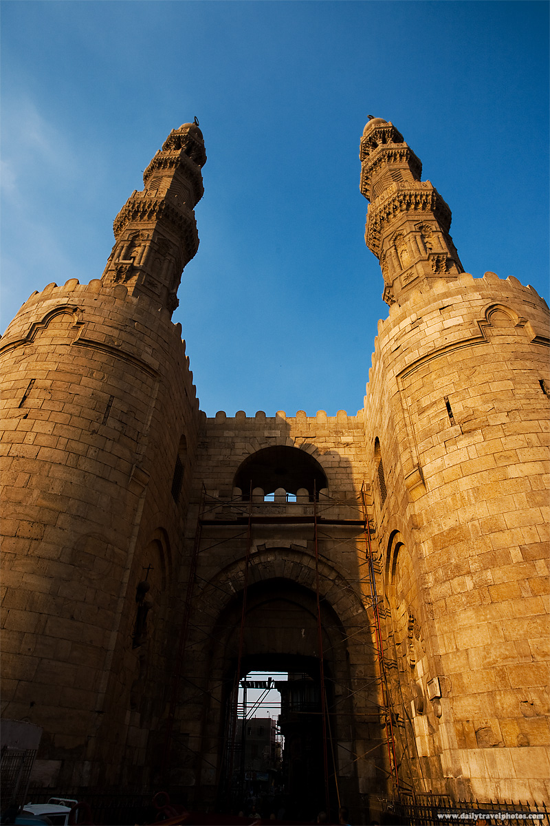 Bab Zuweila gateway, the southern entrance to the old city of Cairo - Cairo, Egypt - Daily Travel Photos