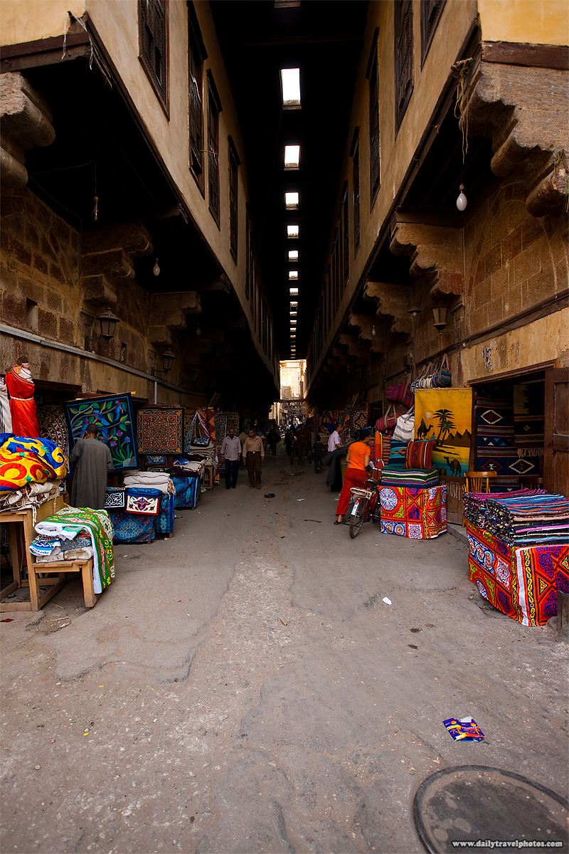 The covered Bazaar of the Tentmakers in Islamic Cairo - Cairo, Egypt - Daily Travel Photos