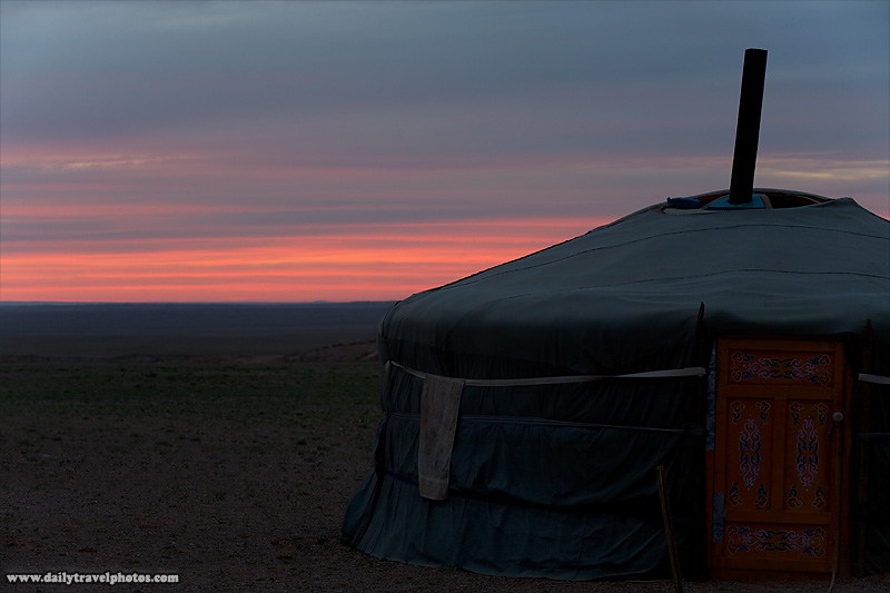 A Mongolian nomadic house called a ger - Gobi Desert, Mongolia - Daily Travel Photos