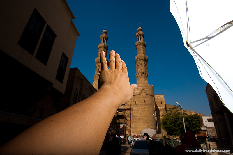 The test shot at Bab Zuweila gateway - Cairo, Egypt - Daily Travel Photos