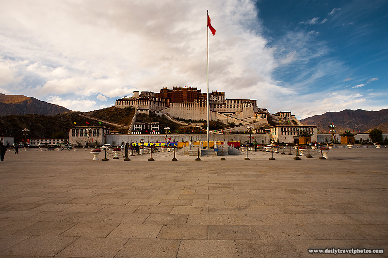 The Potala Palace seen from the Potala Square in Lhasa - Lhasa, Tibet - Daily Travel Photos