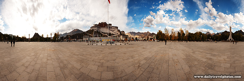 A user-controlled panorama of Potala Square and Palace in Lhasa - Lhasa, Tibet - Daily Travel Photos