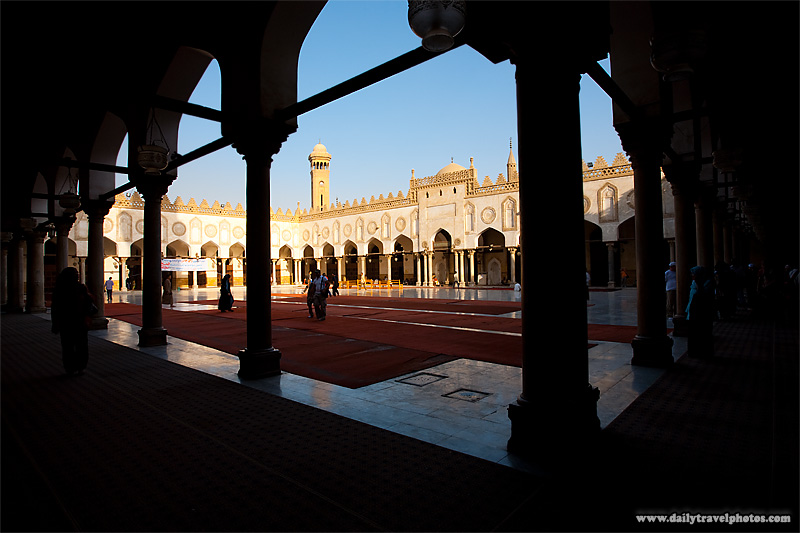 The courtyard of the Al-Azhar Mosque in Islamic Cairo - Cairo, Egypt - Daily Travel Photos
