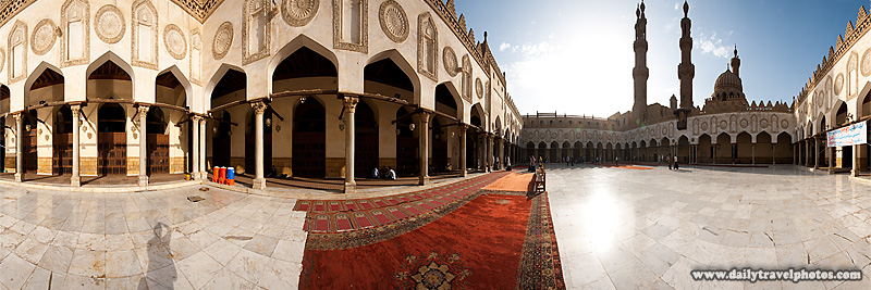 A user-controlled panorama of the courtyard of the Al-Azhar Mosque in Islamic Cairo - Cairo, Egypt - Daily Travel Photos