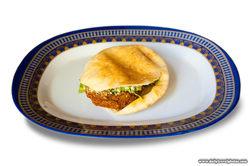 A falafel sandwich, a staple Egyptian food - Cairo, Egypt - Daily Travel Photos