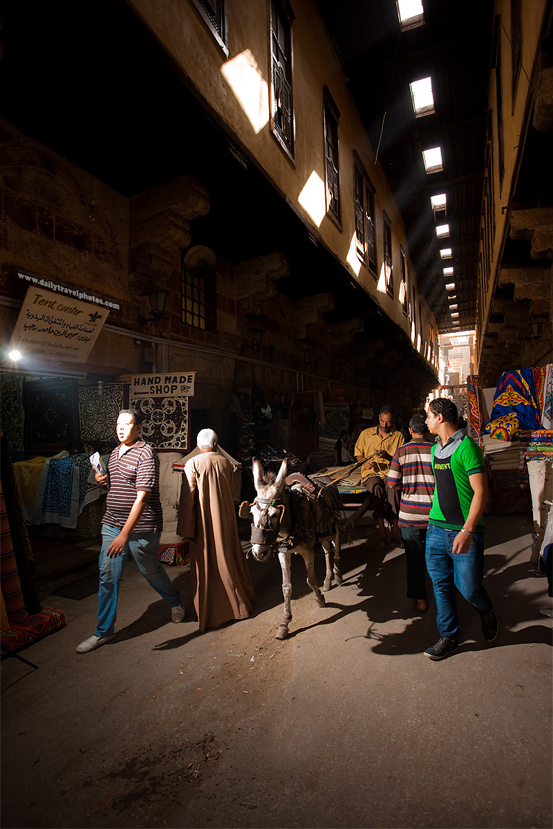 A donkey cart passes through the test exposure shot  - Cairo, Egypt - Daily Travel Photos