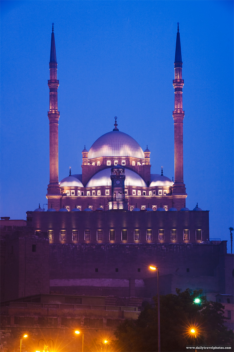 Islamic Cairo's Citadel at the blue hour - Cairo, Egypt - Daily Travel Photos
