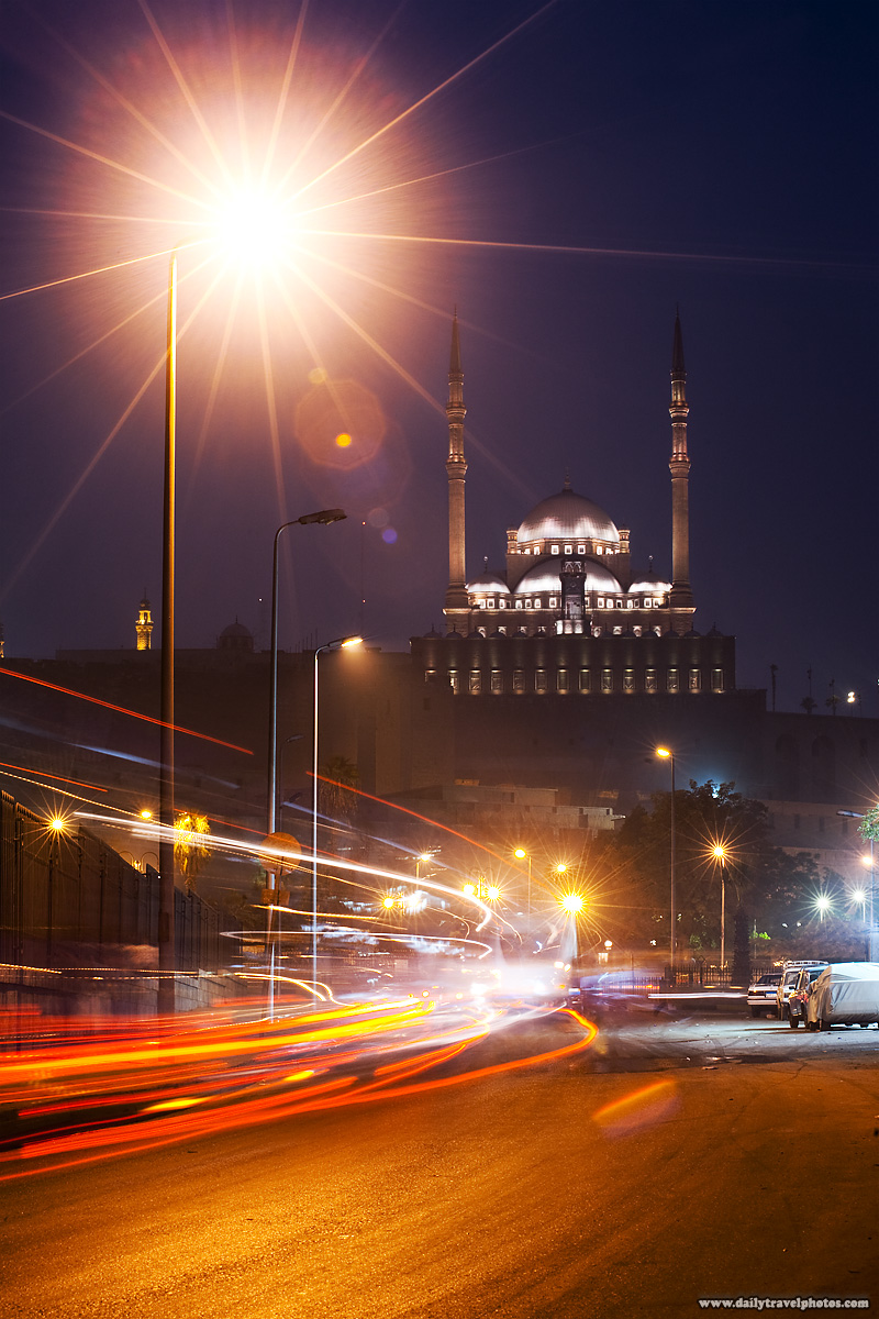 Traffic swirls below the Citadel in Islamic Cairo - Cairo, Egypt - Daily Travel Photos