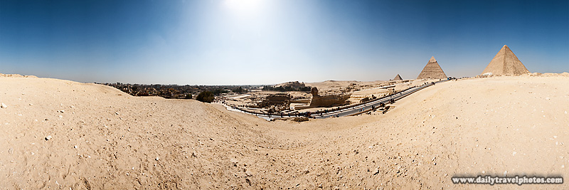 User controlled Flash panorama Sphinx Entrance Giza Pyramids - Cairo, Egypt - Daily Travel Photos