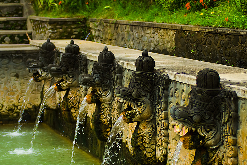 Fountain Heads Bath Hot Spring - Banjar, Bali, Indonesia - Daily Travel Photos
