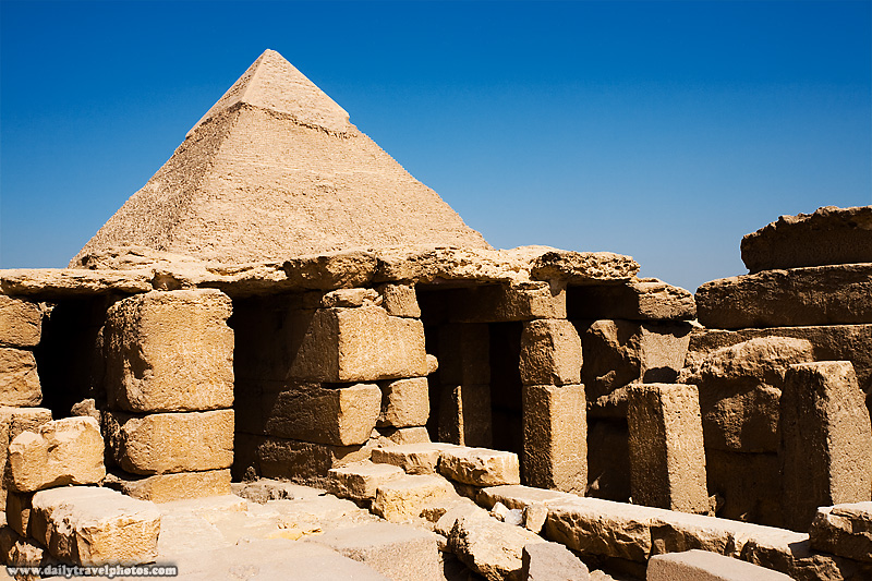Funerary Mortuary Temple Pyramid Menkaure Khafre - Cairo, Egypt - Daily Travel Photos