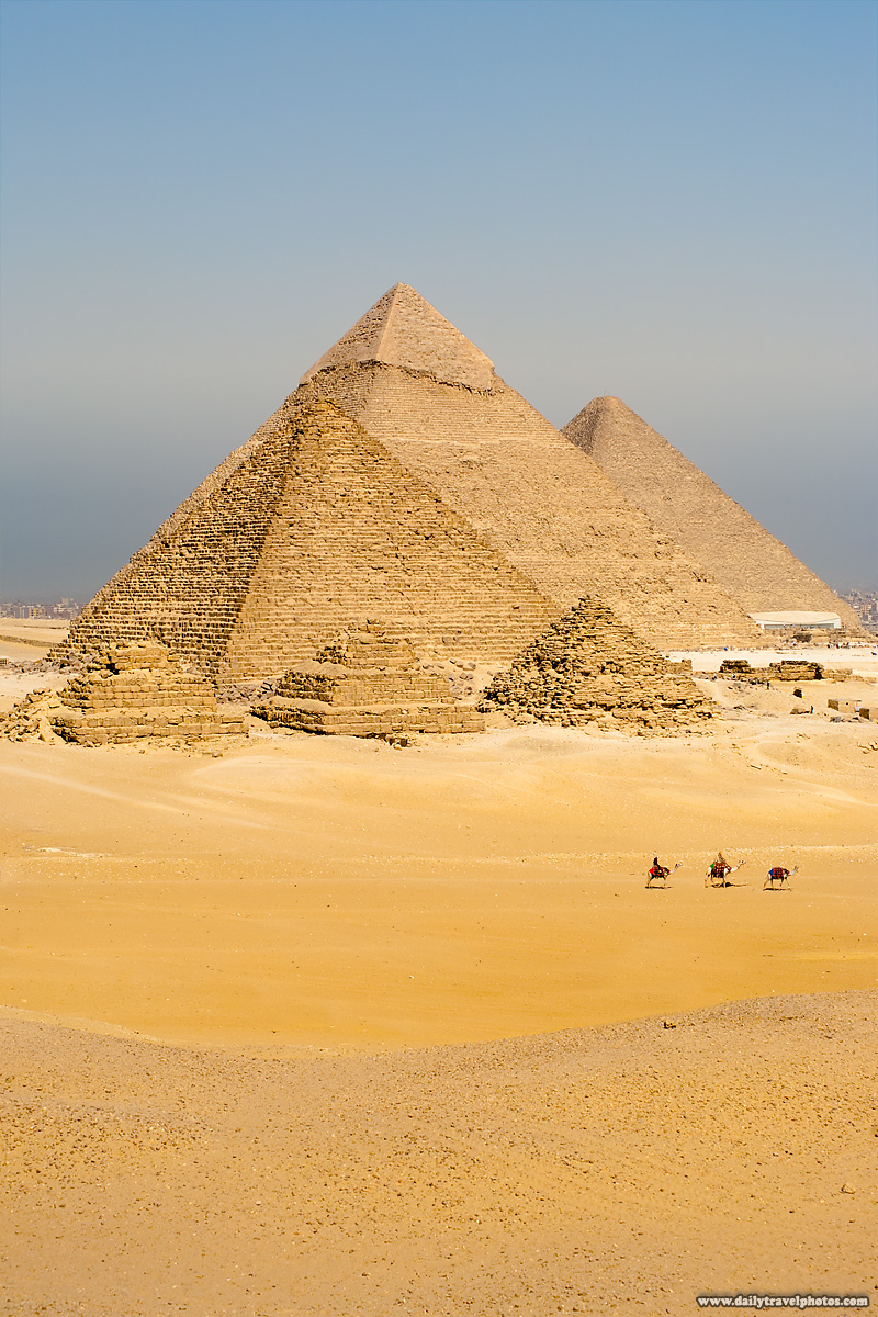 Pyramids Tourists Camels Hill - Cairo, Egypt - Daily Travel Photos