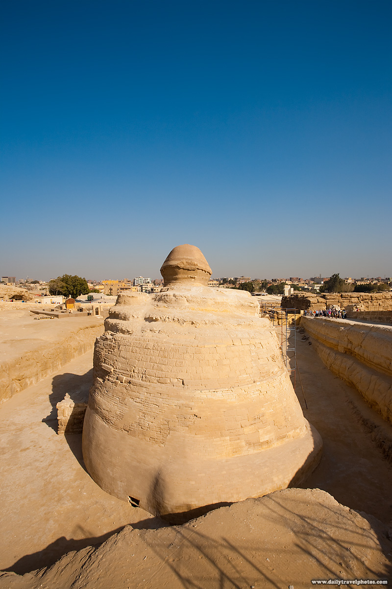 Sphinx Rear End Rarely Seen- Cairo, Egypt - Daily Travel Photos