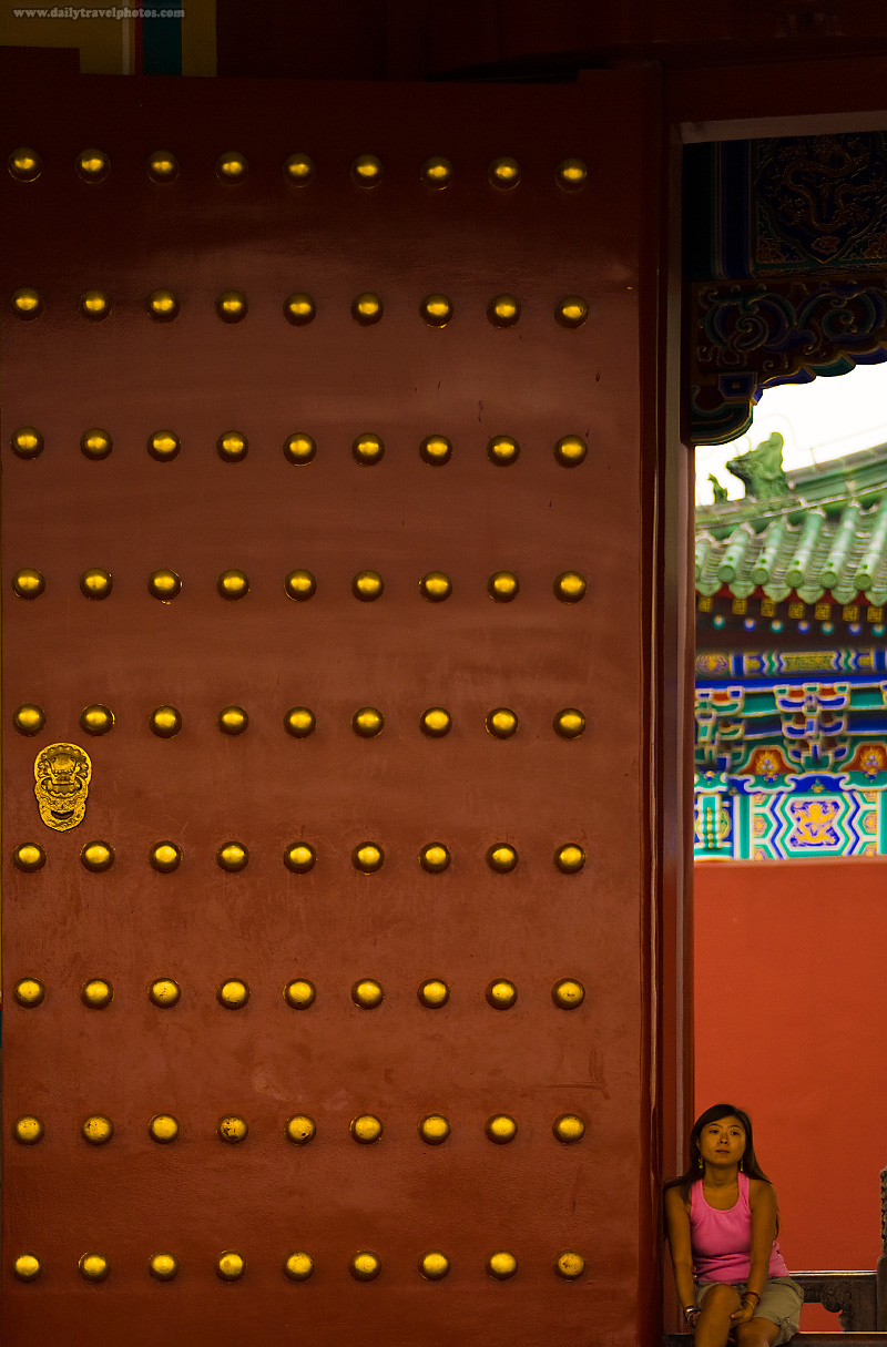 Temple of Heaven Gate Chinese Girl - Beijing, China - Daily Travel Photos