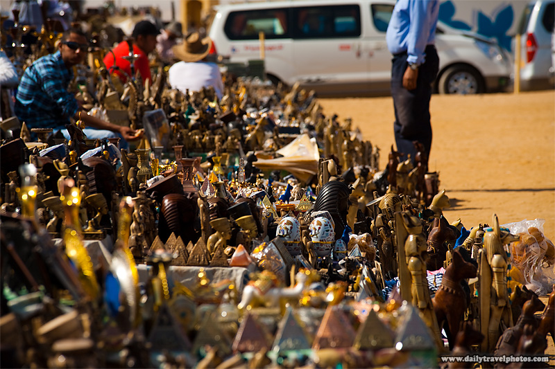 Tourist Kitsch Souvenirs Pyramid Viewpoint - Cairo, Egypt - Daily Travel Photos