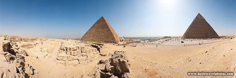 User-Controlled Panorama Great Pyramids of Giza - Cairo, Egypt - Daily Travel Photos