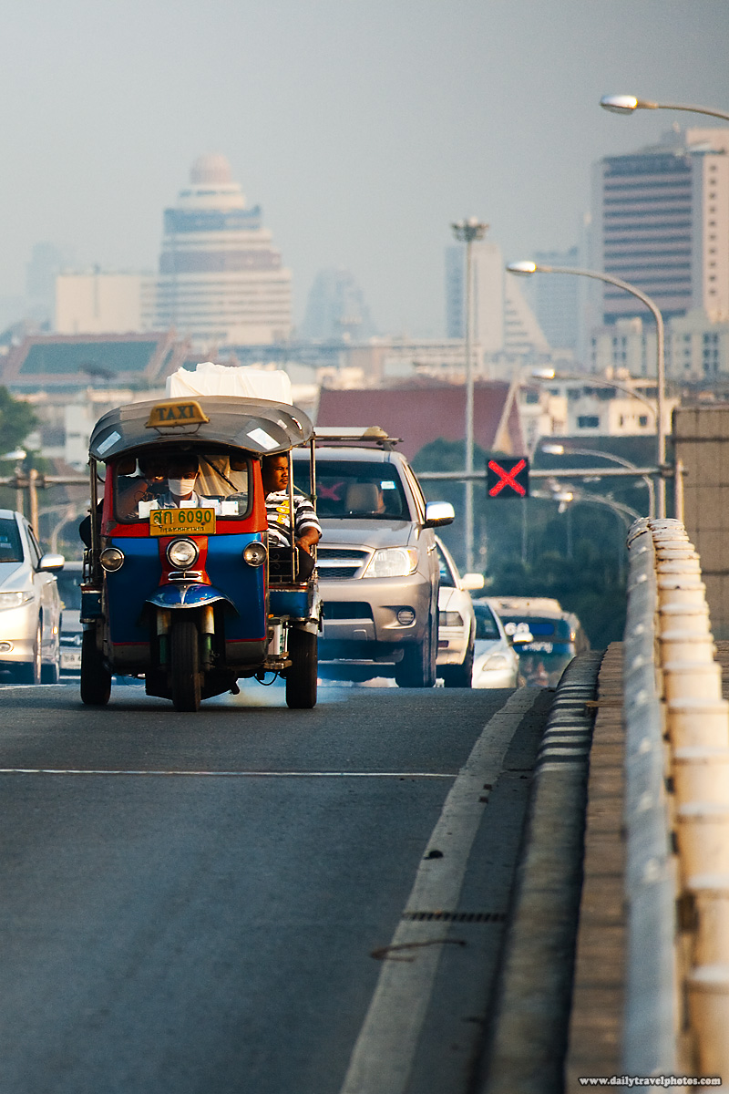 Tuk-Tuk Traffic Cityscape - Bangkok, Thailand - Daily Travel Photos