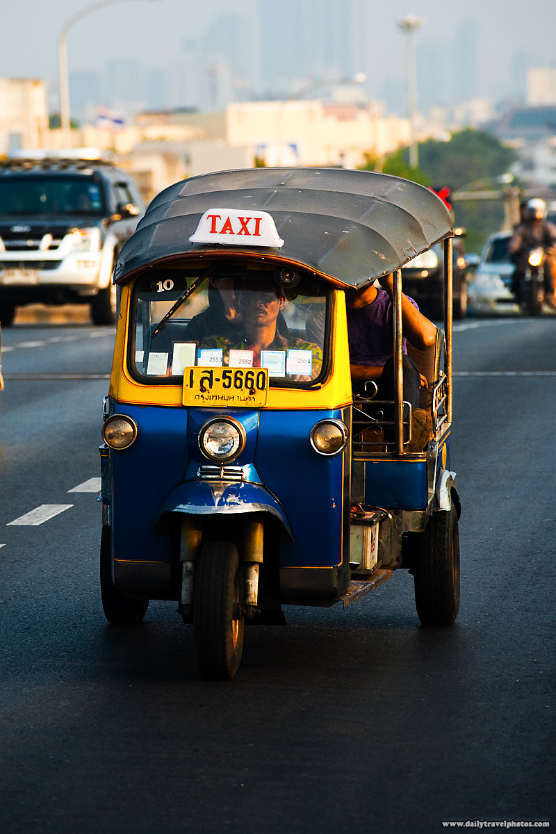 Tuk-Tuk Traffic Bridge - Bangkok, Thailand - Daily Travel Photos
