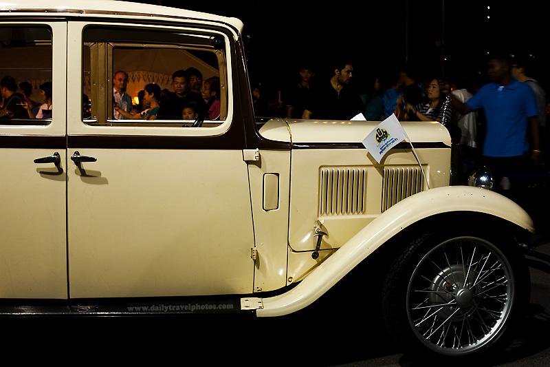 Classic Mercedes Benz car side - Bangkok, Thailand - Daily Travel Photos