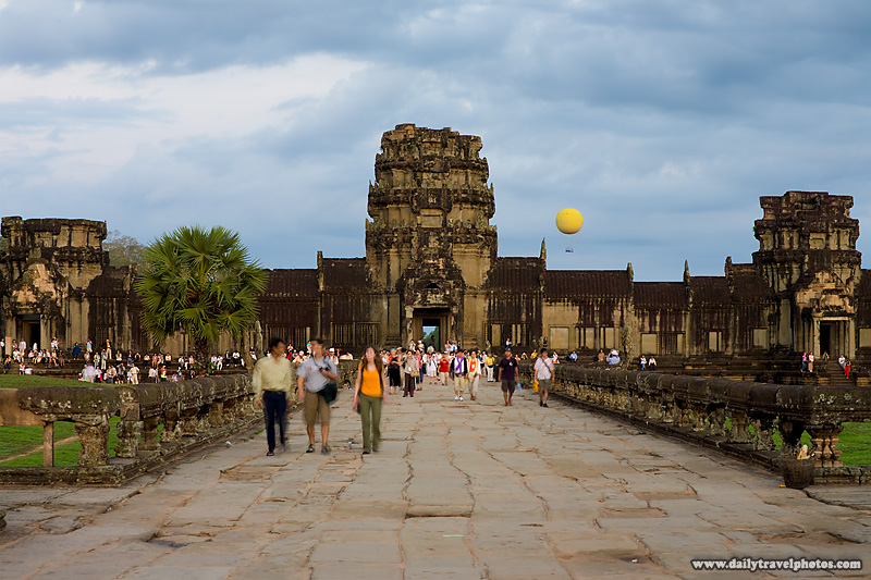 Tourists Angkor Temple Inner Pathway - Siem Reap, Cambodia - Daily Travel Photos