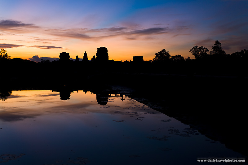 Sunrise Reflection Angkor Temple Moat - Siem Reap, Cambodia - Daily Travel Photos