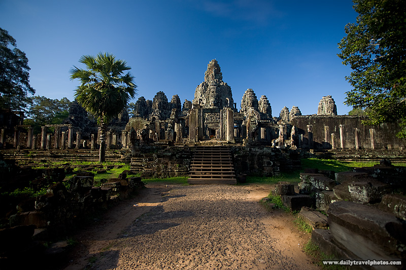 Bayon Temple Side Entrance Wide - Siem Reap, Cambodia - Daily Travel Photos