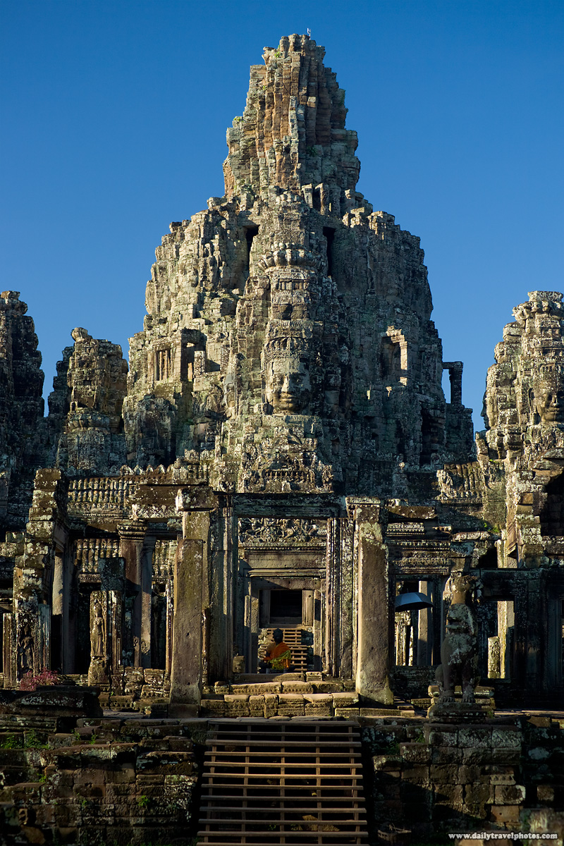 Bayon Temple Faces Entrance Angkor Wat - Siem Reap, Cambodia - Daily Travel Photos