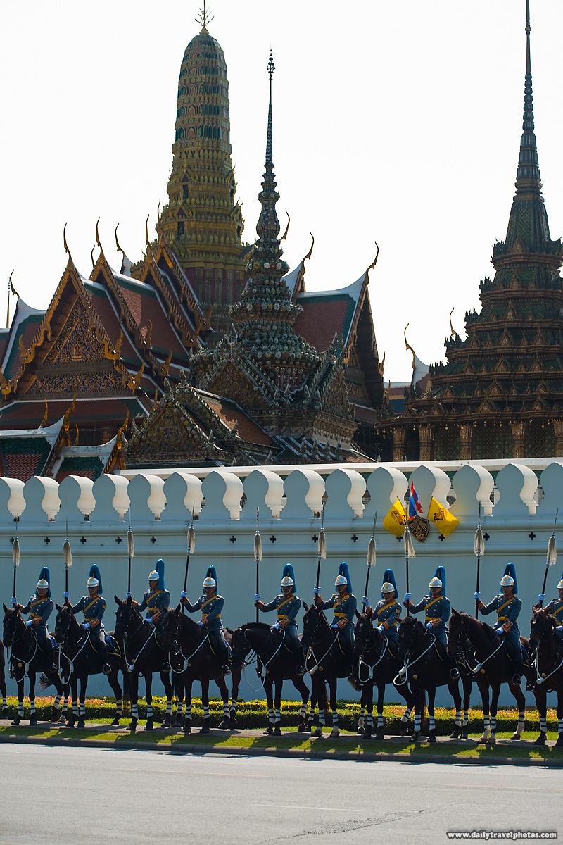 Grand Palace Royal Mounted Army Temples Horses - Bangkok, Thailand - Daily Travel Photos